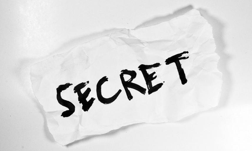 Secret written on paper