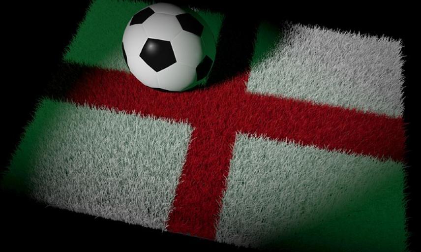 football on england flag