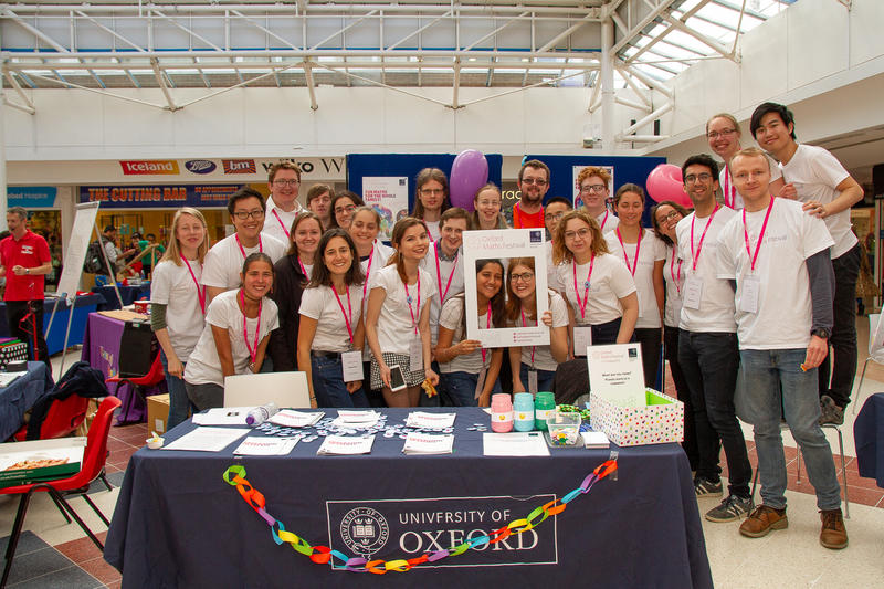 Volunteers on Saturday for Oxford Maths Festival